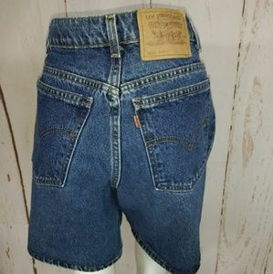 Vintage Levi's jean shorts 951 orange tab 30w